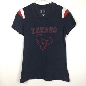 NIKE | Houston TEXANS Blue & Red Top Tee Football